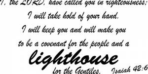 Isaiah 42:6 Vinyl Wall Decals By Scripture Wall Art