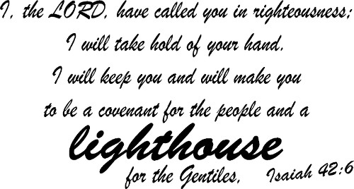 Isaiah 42:6 Vinyl Scripture Wall Decal