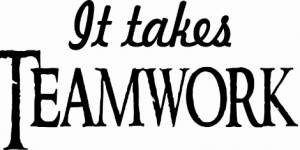 It Takes Teamwork ~ Vinyl Wall Decal By Scripture Wall Art
