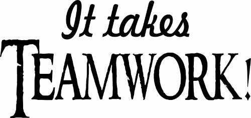 It Takes Teamwork Motivational Wall Decal