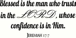 Jeremiah 17:7 Vinyl Wall Decal By Scripture Wall Art