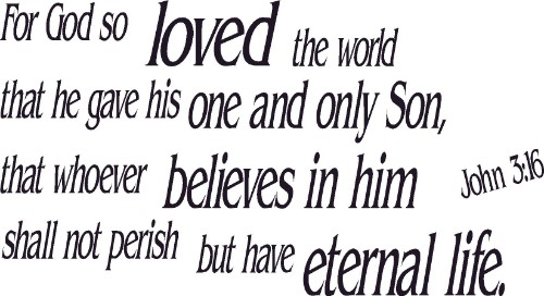John 3:16 Scripture Wall Art
