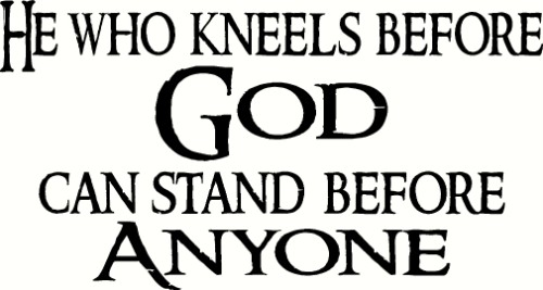 He Who kneels inspirational vinyl wall decal