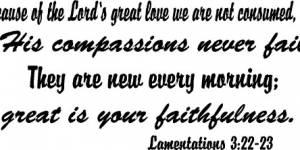 Lamentations 3:22-23 Vinyl Wall Decals By Scripture Wall Art