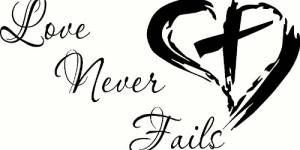 Love Never Fails Vinyl Wall Decals By Scripture Wall Art
