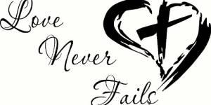 Love Never Fails Vinyl Wall Decals By Scripture Wall Art