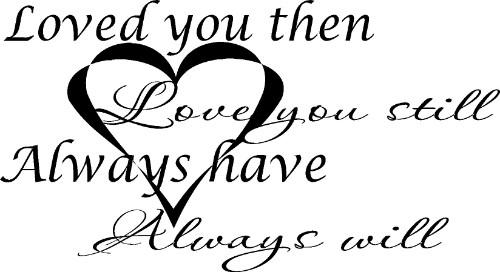Love You Then Romantic Love Wall Art