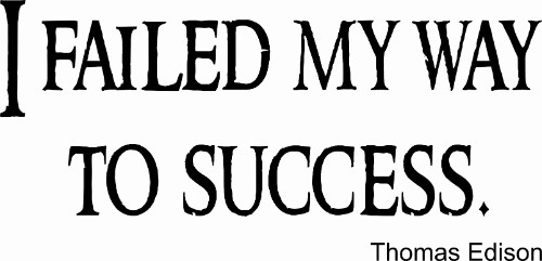 I Failed My Way To Success Vinyl Wall Decal