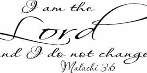 Malachi 3:6 Vinyl Wall Decals By Scripture Wall Art