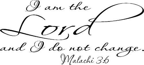 Malachi 3:6 Scripture Wall Decal