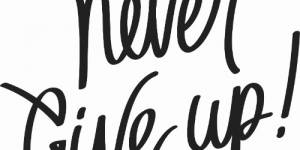 Never Give Up ~ Vinyl Wall Decal By Scripture Wall Art