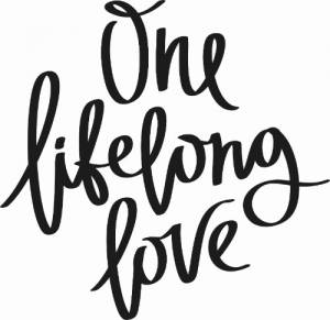 One Lifelong Love ~ Vinyl Wall Decal by Scripture Wall Art Image