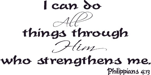 Philippians 4:13 Inspirational Vinyl Wall Art