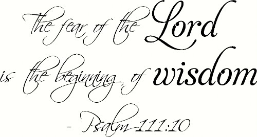 Psalm 111:10 Scripture Wall Decal