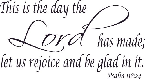 Psalm 118:24 Psalms Vinyl Wall Decals