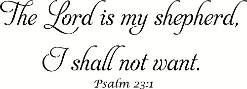 Psalm 23:1 Spiritual Wall Quote