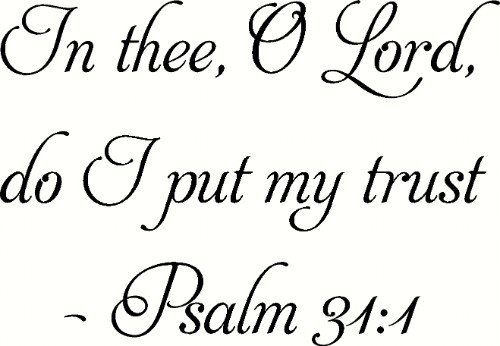 Psalm 31:1 Scripture Vinyl Wall Decal