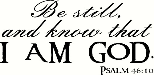 Psalm 46:10 Bible Verse Vinyl Wall Decal
