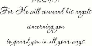 Psalm 91:11 Vinyl Wall Decal By Scripture Wall Art