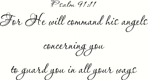 Psalm 91:11 Bible Verse Wall Decal