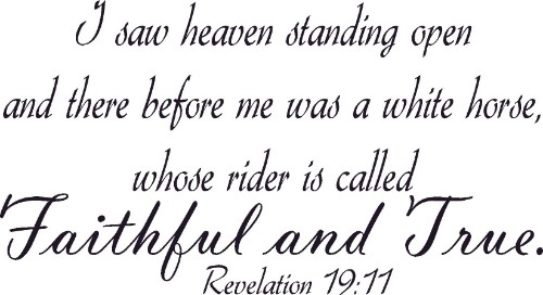 Revelation 19:11 Christian Vinyl Wall Decal