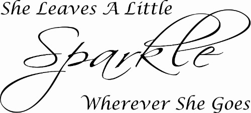 She leaves a little sparkle everywhere she goes vinyl wall decal for girls
