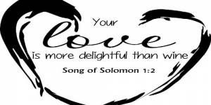 Song Of Solomon 1:2 Vinyl Wall Decals By Scripture Wall Art