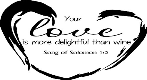 Song of Solomon 1:2 Vinyl Wall Decal