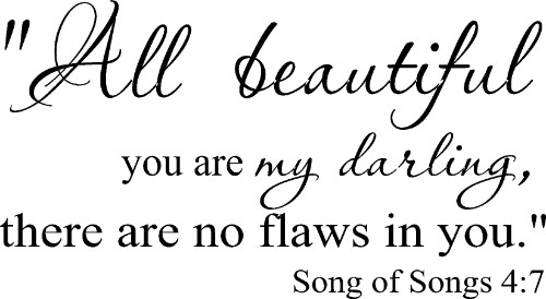 Song of Solomon 4:7 Bible Verse Wall Decal