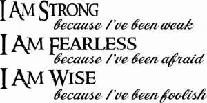 I Am Strong Because Vinyl Wall Decals By Scripture Wall Art