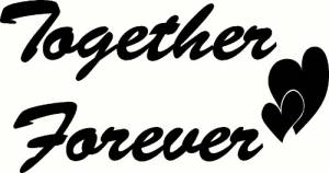 Together Forever Vinyl Wall Decal by Scripture Wall Art Image