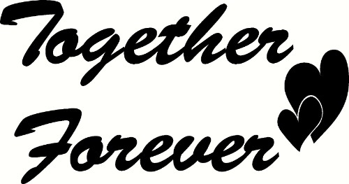 Together Forever Romantic Vinyl Wall Decal