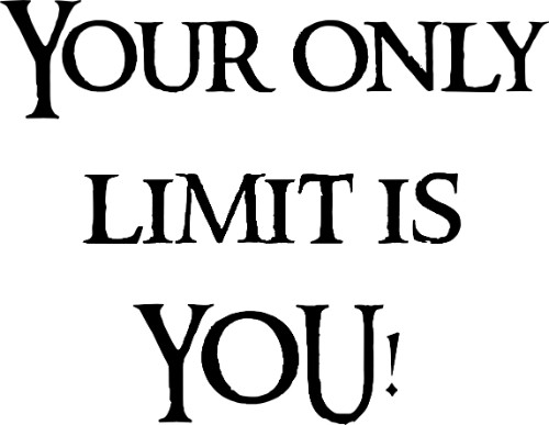 Your Only Limit is You Vinyl Wall Decal