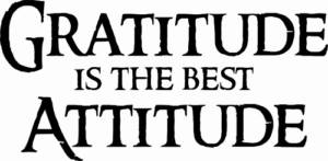 Gratitude Is The Best Attitude ~ Vinyl Wall Decal by Scripture Wall Art Image